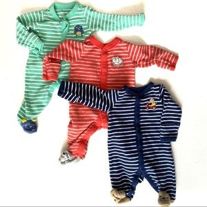 Carter's newborn set of 3 long sleeve sleep & play